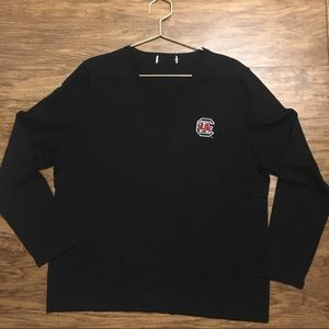 Sweaters - Black South Carolina Gamecocks V-Neck Sweater